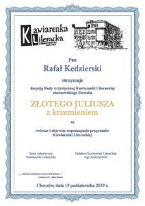 Złoty Juliusz z krzemieniem Rafał Kędzierski