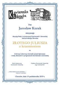 Złoty Juliusz z krzemieniem Jarosław Kurak